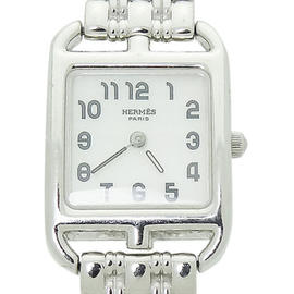 Hermes Paris 18K White Gold Cape Cod Womens Watch