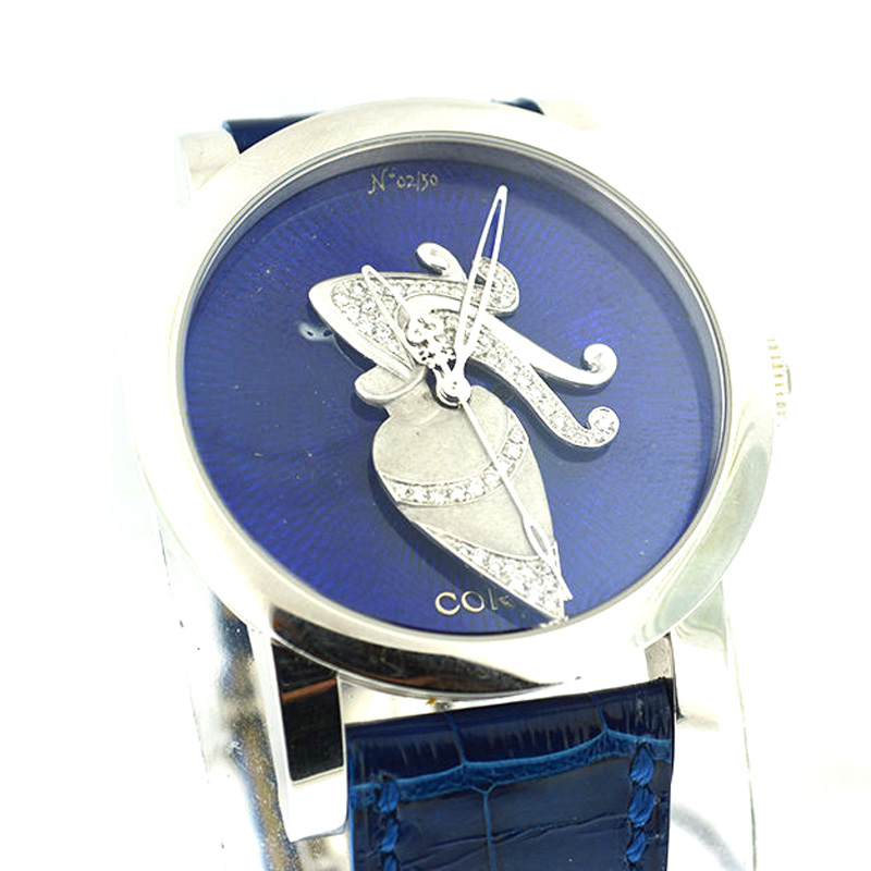 "Image of ""Corum Artisan 2/50 Aquarius Blue Diamonds 18K White Gold Watch"""