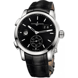 Ulysse Nardin 3343-126/92 Dual Time Manufacture Stainless Steel 42mm Watch