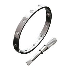 Cartier Love Bracelet W/G 10 Dia Size 16