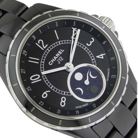 Chanel J12 H3405 Black Ceramic Moonphase Watch