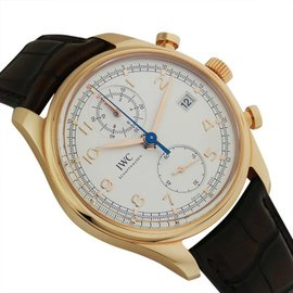 IWC Portuguese IW390402 Chronograph Classic 18K Rose Gold 42mm Watch