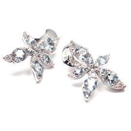 Pasquale Bruni 18K White Gold Diamond Blue Topaz Earrings