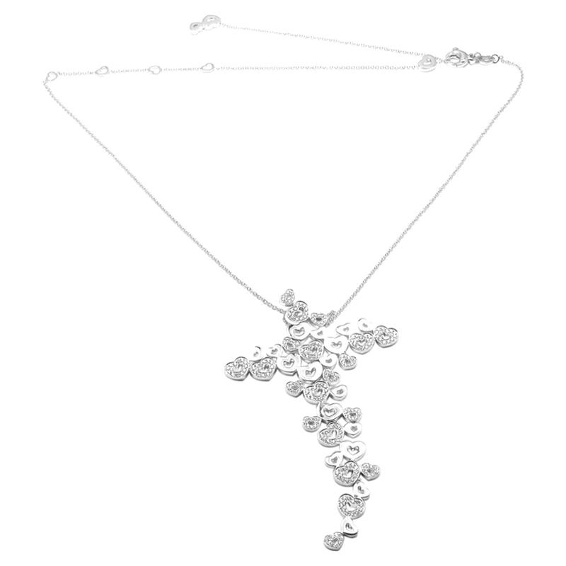 """""Pasquale Bruni 18K White Gold D Amor Diamond Necklace"""""" 304096"