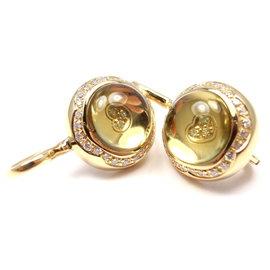 Pasquale Bruni 18K Yellow Gold Diamond Earrings