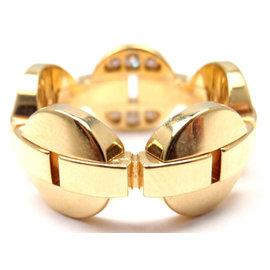Cartier Himalia 18K Yellow Gold Diamond Band Ring Size 49 US 4 3/4