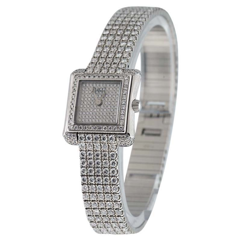 """Image of """"Piaget Imperatrice 18K White Gold with Diamonds Womens Watch"""""""
