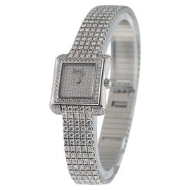 Piaget Imperatrice 18K White Gold with Diamonds Womens Watch