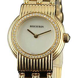 Boucheron France18K Yellow Gold MOP Diamond 28mm Womens Watch