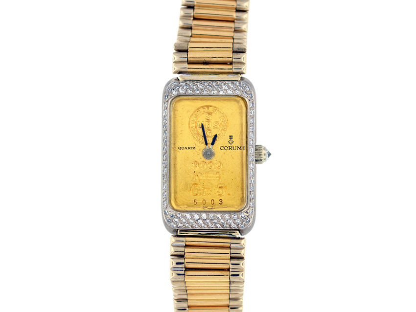 "Image of ""Corum 18K Yellow and White Gold Diamond Watch Bracelet"""