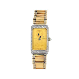 Corum 18K Yellow and White Gold Diamond Watch Bracelet