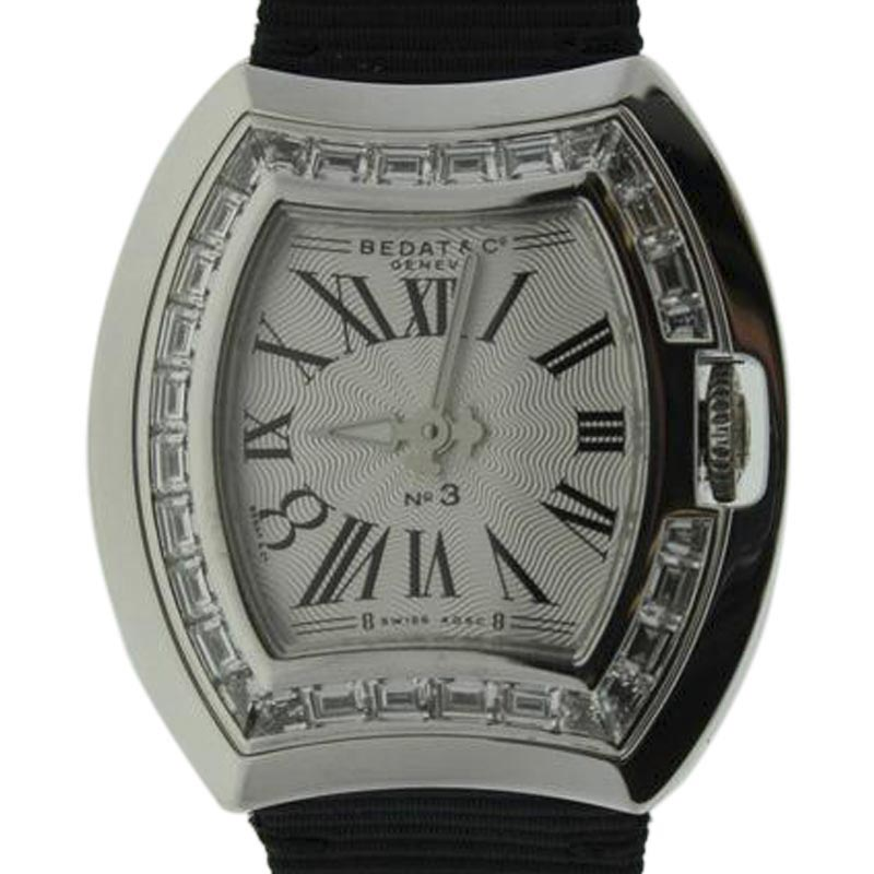 "Image of ""Bedat & Co. 324.530.100 White Gold & Diamonds Bezel 30mm Womens Watch"""
