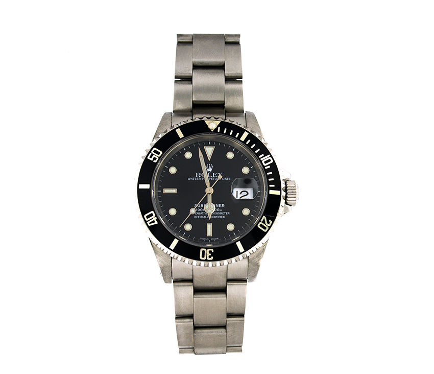 """Image of """"Rolex Submariner 16610 Stainless Steel Black Dial Mens Watch"""""""