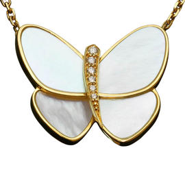 Van Cleef & Arpels Gold Flying Beauties Diamond Butterfly Pendant