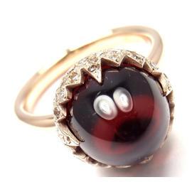 Pomellato Chimera 18k Rose Gold Garnet Diamond Ring