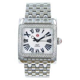 Michele MW2 Stainless Steel Diamond Bezel 28mm Womens Watch