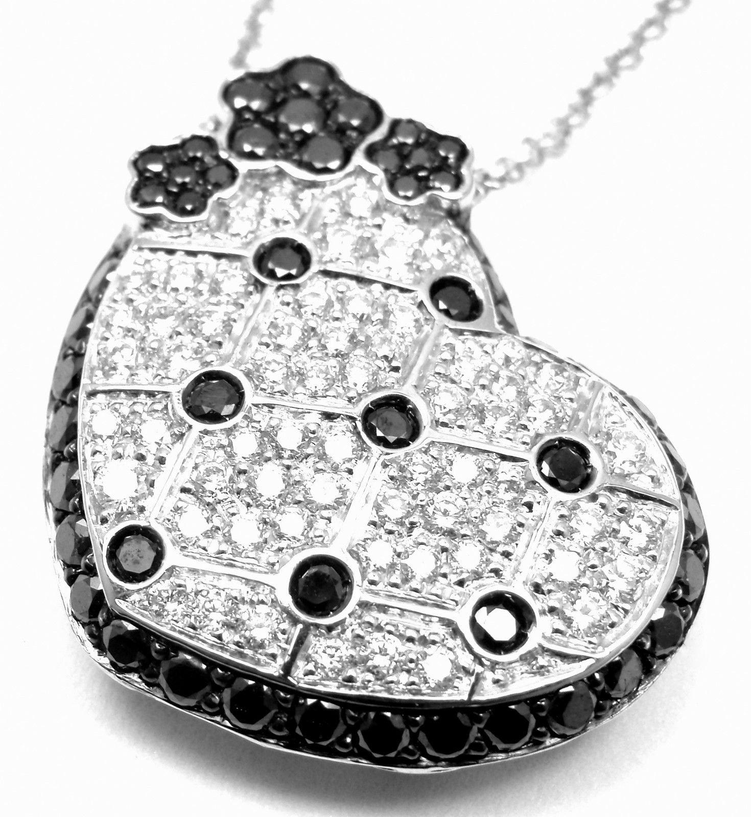 """""Pasquale Bruni 18K White Gold Diamond Pendant Necklace"""""" 563990"