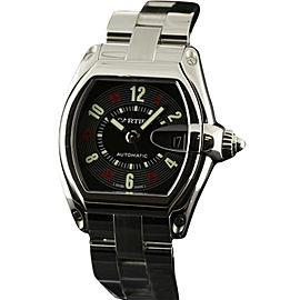 Cartier Roadster W62002V3 Black Arabic Steel Automatic Mens Watch
