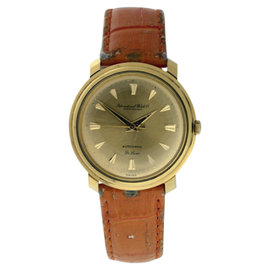 IWC Classic 14K Yellow Gold Automatic Vintage Mens Watch