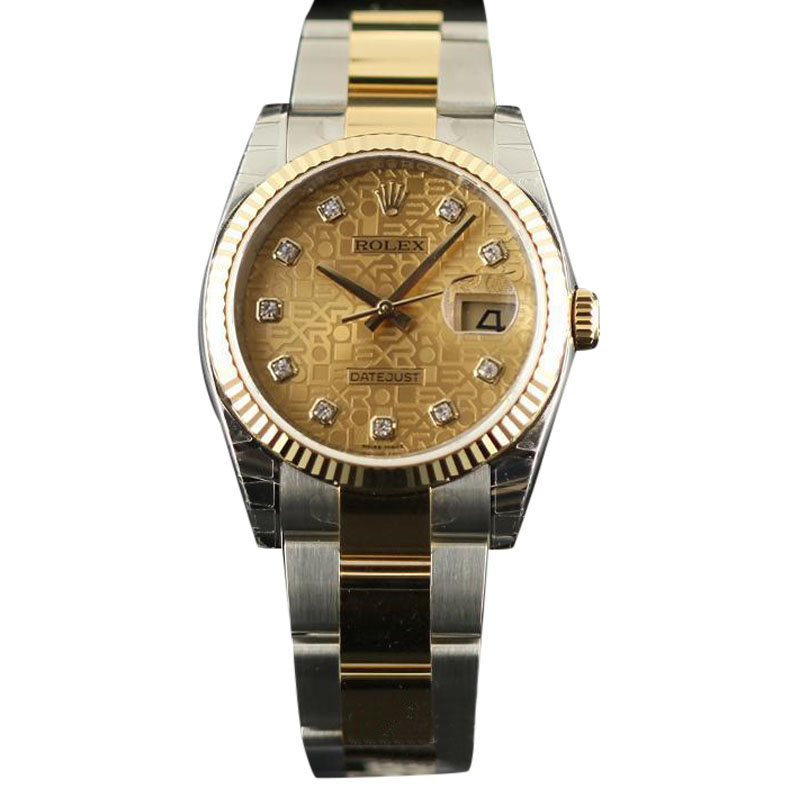 """""Rolex Datejust 116233 Steel & Gold Champagne Watch"""""" 626288"