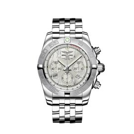Breitling Chronomat 44 Chrono ab011011/g676 Stainless Steel Silver Dial 44mm Watch