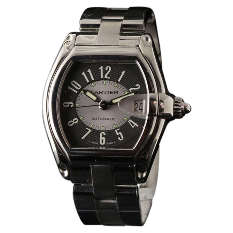 "Image of ""Cartier Roadster W62001V3 Large Stainless Steel Grey Automatic 37mm x"""