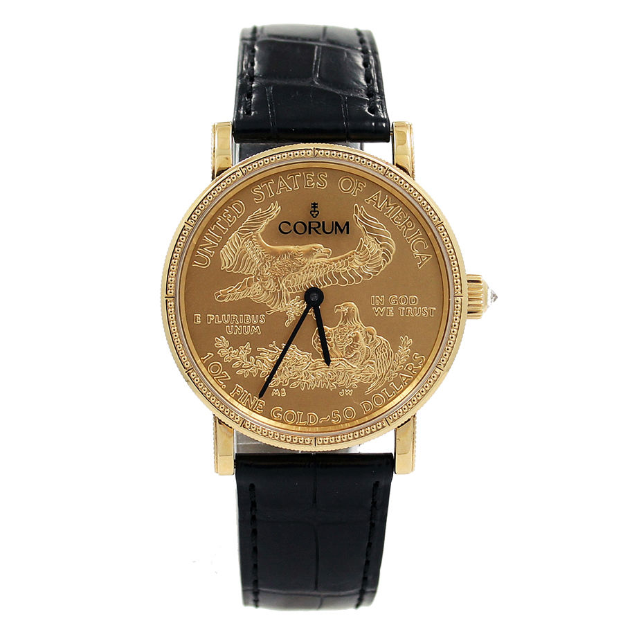 "Image of ""Corum Yellow Gold Heritage Coin $50 Dial 36mm Unisex Watch"""
