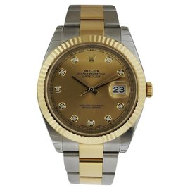 Rolex Datejust II 126333 18K Yellow Gold & Stainless Steel With Champagne Dial 41mm Mens Watch