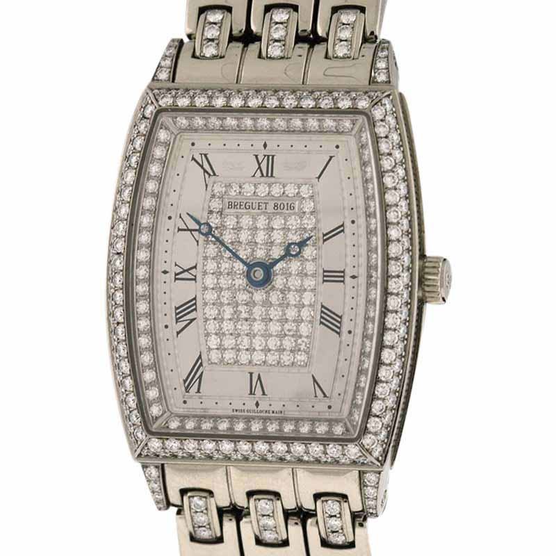 "Image of ""Breguet Heritage 8671Bb All Diamond 18k White Gold Automatic 25mm x"""