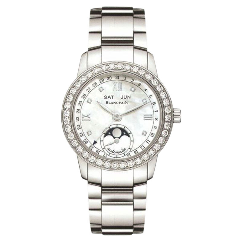 "Image of ""Blancpain 3663A-4654-71B Stainless Steel Diamond Mother Of Pearl Dial"""