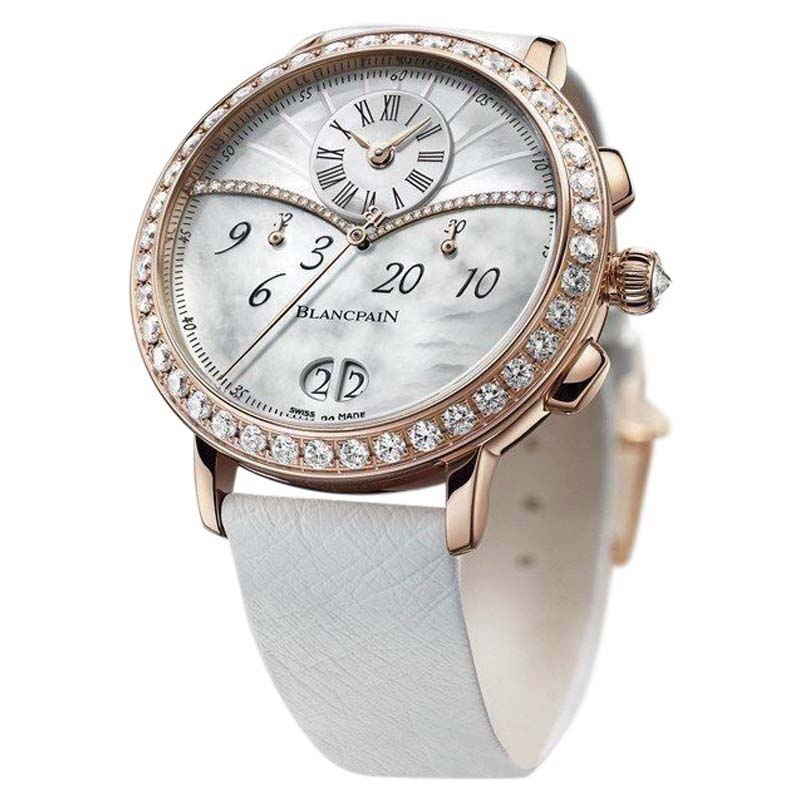 "Image of ""Blancpain 3626-2954-58A 18K Rose Gold Chronograph Date 38mm Womens"""