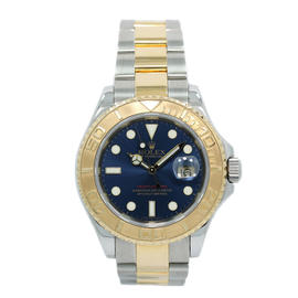 Rolex Yachtmaster 16623 18K Yellow Gold and Steel Blue Dial 40mm Mens Watch 2006