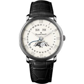 Blancpain Villeret 6654-1127-55b Stainless Steel Moonphase 40mm Unisex Watch