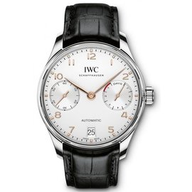IWC Portugieser iw500704 Stainless Steel & Silver Dial Automatic 42.3mm Mens Watch
