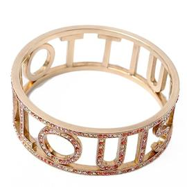 Louis Vuitton Pink Gold Tone Metal Bracelet