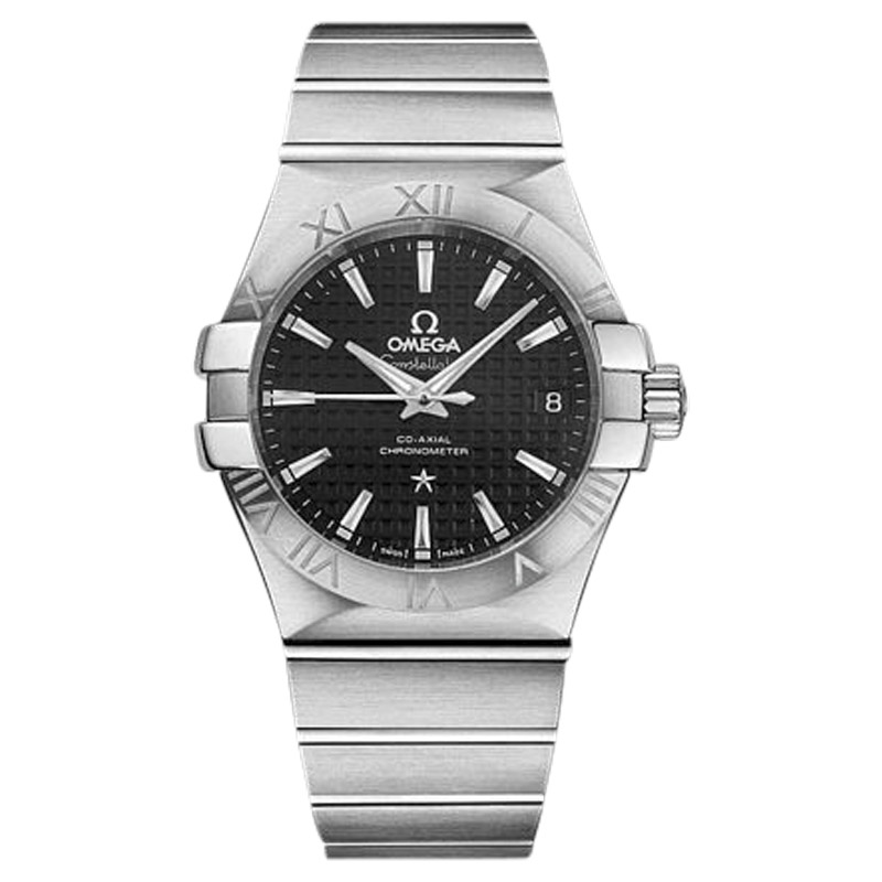 """Image of """"Omega Constellation 123.10.35.20.01.002 Stainless Steel Co-Axial Black"""""""