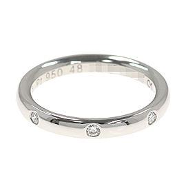 Van Cleef & Arpels 950 Platinum Diamond Ring Size 4.5