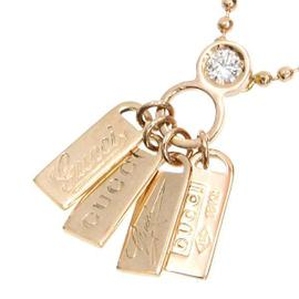 Gucci 750 Rose Gold and Diamond Pendant Necklace