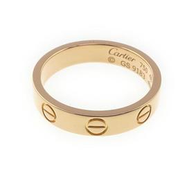Cartier Mini Love 750 Rose Gold Ring Size 4.5