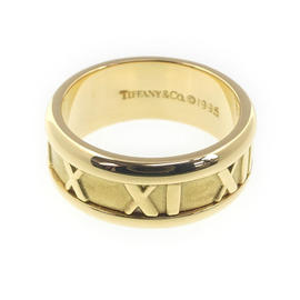 Tiffany & Co. Atlas 18K Yellow Gold 750 Ring Size 4.5