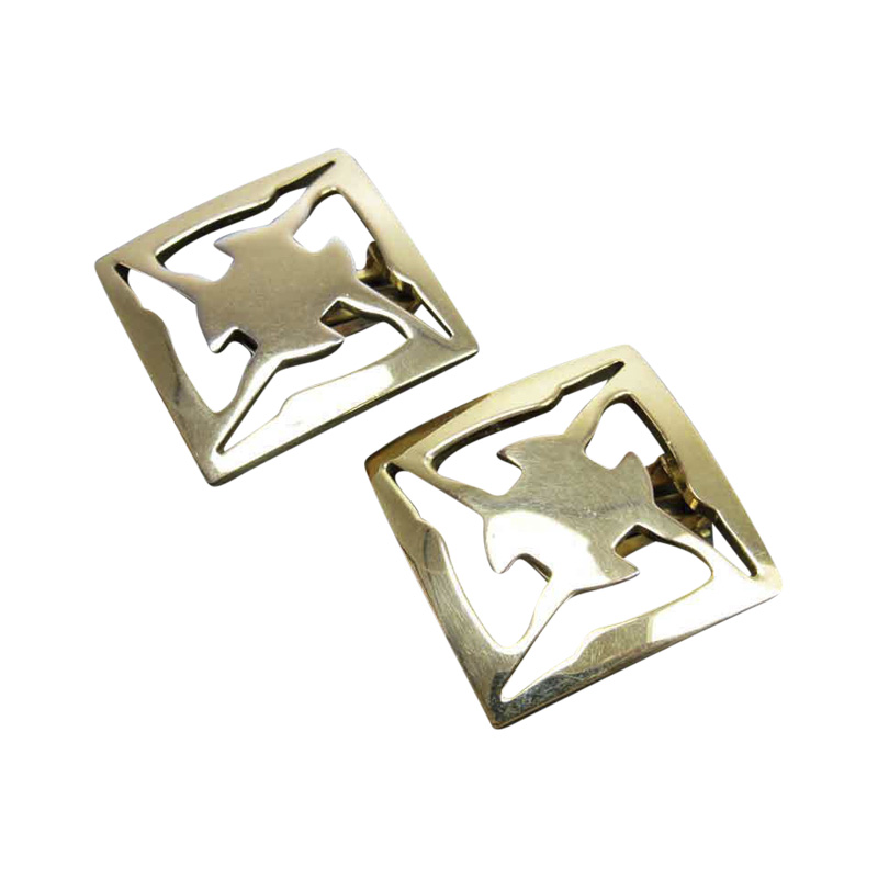 """Image of """"Salvatore Ferragamo Gold Plated Earrings"""""""
