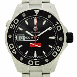Tag Heuer Aquaracer WAJ211A Stainless Steel Black Dial Automatic 42mm Mens Watch