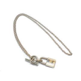 Hermes Cadena Kelly SV925 Sterling Silver Necklace