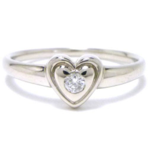 """""Christian Dior 900 Platinum and Diamond Ring Size 6"""""" 1237766"