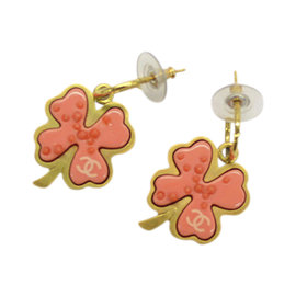 Chanel Pink Gold and Motif Earrings