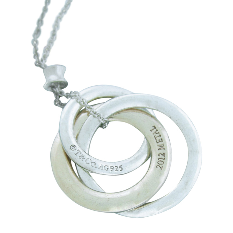 "Image of ""Tiffany & Co. Rubedo & 925 Sterling Silver Interlocking Circle Pendant"""