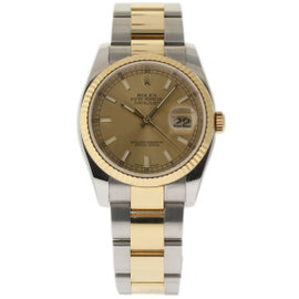 Rolex Datejust 116233 Steel Yellow Gold Champagne 36mm Mens Watch 2009
