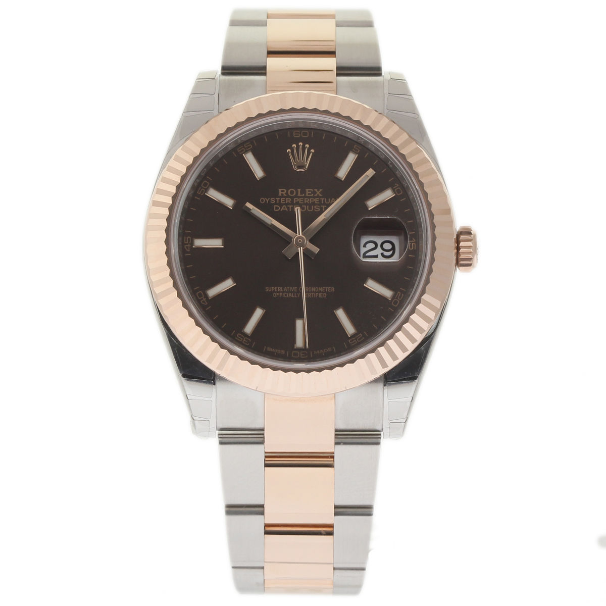 "Image of ""Rolex Datejust 126331 Stainless Steel / 18K Pink Gold with Chocolate"""