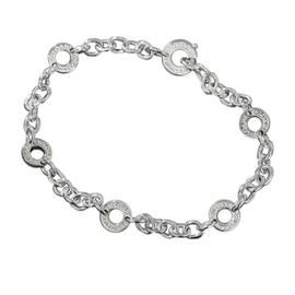Bulgari 750 White Gold Chain Bracelet