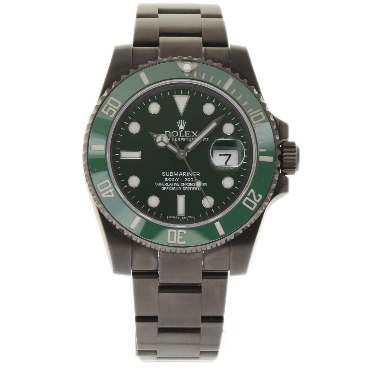 """Image of """"Rolex Submariner 116610 Stainless Steel Coated Pvd/dlc Green Dial"""""""